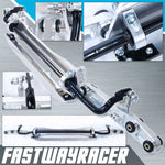 96-00 Honda Civic EK Silver Aluminum Rear Subframe Brace & Rear Lower Control Arm & Tie Bar & Sway Bar