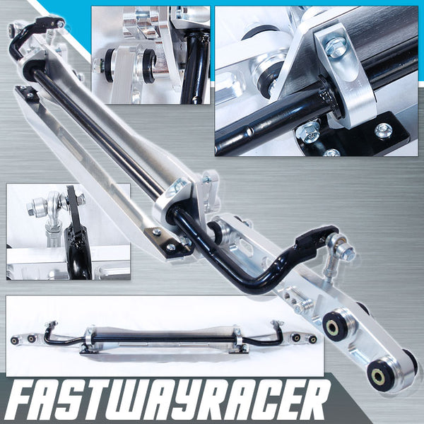 94-01 Acura Integra DC2 Silver Aluminum Rear Subframe Brace & Rear Lower Control Arm & Tie Bar & Sway Bar