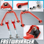 03-08 Nissan 350Z Red Adjustable Front Upper Camber Kit & Rear Camber Kit