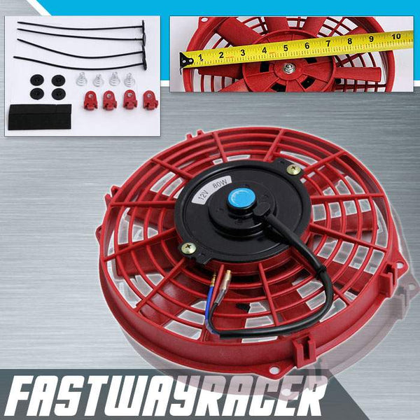 Universal Red 9&#39&#39 Electric Slim/Thin Cooling Fan