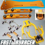 94-01 Acura Integra Gold Subframe Brace & Front Upper Control Arm & Rear Lower Control Arm & Rear Camber Kit & Bushing Kit