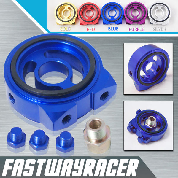 Acura Blue Oil Filter Sandwich Plate Adapter Kit M20XP1.5 1/8NPT