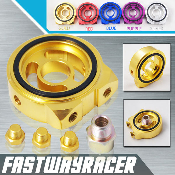 Acura Gold Oil Filter Sandwich Plate Adapter Kit M20XP1.5 1/8NPT