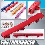 88-00 Honda Civic B-series DOHC Red Aluminum Fuel Injection Rail