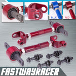 02-06 Acura RSX Red Adjustable Front and Rear Camber Kit
