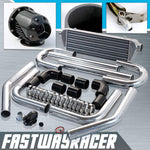 Universal Black 2.5&#39&#39 FMIC Intercooler Piping Kit & Black SSQV Turbo Blow Off Valve Bov