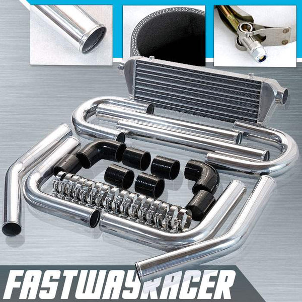 Universal Black 2.5&#39&#39 FMIC Intercooler Piping Kit