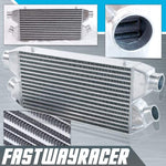Universal 30&#39&#39X11&#39&#39X3&#39&#39 2 IN-2 OUT Twin Turbo Aluminum Front Mount Intercooler