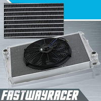 01-06 BMW 325XI E46 Manual 2 Rows Aluminum Radiator & 14&#39&#39 Cooling Fan