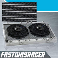 00-05 Toyota Celica Manual 2 Rows Aluminum Radiator & 2X 12&#39&#39 Cooling Fan