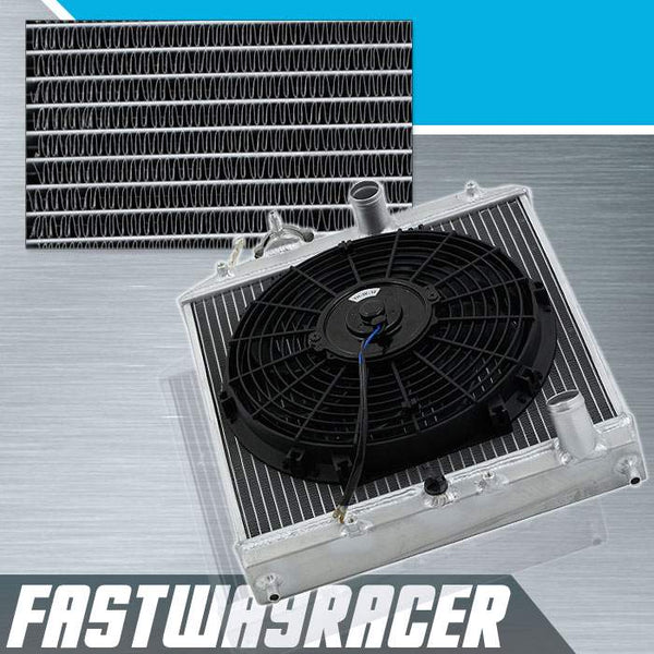 93-97 Honda Del Sol Manual 2 Rows Aluminum Radiator & 12&#39&#39 Cooling Fan