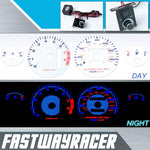 94-01 Acura Integra GS/RS/LS Automatic White and Blue Reverse Glow Gauge