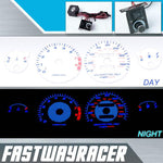 94-01 Acura Integra GS/RS/LS Manual White and Blue Reverse Glow Gauge