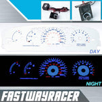 95-99 Dodge Neon Manual White and Blue Reverse Glow Gauge