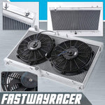95-99 Mitsubishi Eclipse GST/GSX 4G63 Manual 2 Rows Aluminum Radiator & 2X 12&#39&#39 Radiator Fan