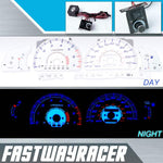 96-98 Toyota 4Runner White and Blue Reverse Glow Gauge