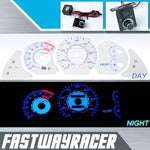 94-99 Toyota Celica GT/ST White and Blue Reverse Glow Gauge