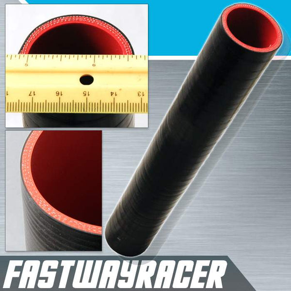 Universal Black 1.5&#39&#39 X 12&#39&#39 4-Ply Straight Silicone Hose Coupler