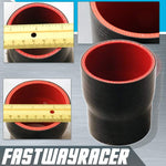 Universal Black 2.0&#39&#39 to 2.25&#39&#39 4-Ply Reducer Silicone Hose Coupler