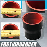 Universal Black 2.0&#39&#39 to 2.5&#39&#39 4-Ply Reducer Silicone Hose Coupler