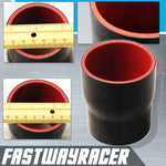 Universal Black 2.25&#39&#39 to 2.5&#39&#39 4-Ply Reducer Silicone Hose Coupler