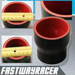 Universal Black 2.25&#39&#39 to 2.75&#39&#39 4-Ply Reducer Silicone Hose Coupler