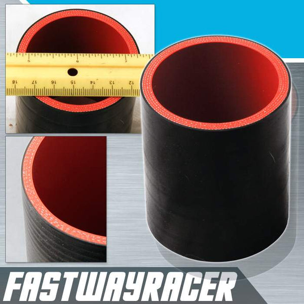Universal Black 2.25&#39&#39 4-Ply Straight Silicone Hose Coupler