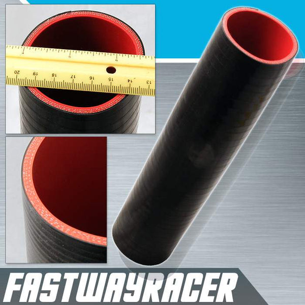 Universal Black 2.5&#39&#39 X 12&#39&#39 4-Ply Straight Silicone Hose Coupler
