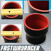 Universal Black 2.5&#39&#39 to 3.0&#39&#39 4-Ply Reducer Silicone Hose Coupler