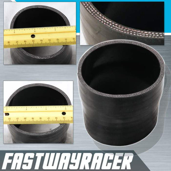 Universal Black 2.75&#39&#39 to 3.0&#39&#39 4-Ply Reducer Silicone Hose Coupler