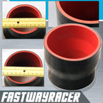Universal Black 3.0&#39&#39 to 3.5&#39&#39 4-Ply Reducer Silicone Hose Coupler