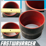 Universal Black 3.5&#39&#39 to 4.0&#39&#39 4-Ply Reducer Silicone Hose Coupler