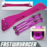 92-95 Honda Civic EG Purple Aluminum Rear Subframe Brace & Rear Lower Control Arm