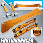 94-01 Acura Integra DC2 Gold Rear Subframe Brace & Rear Lower Control Arm & Rear Camber Kit