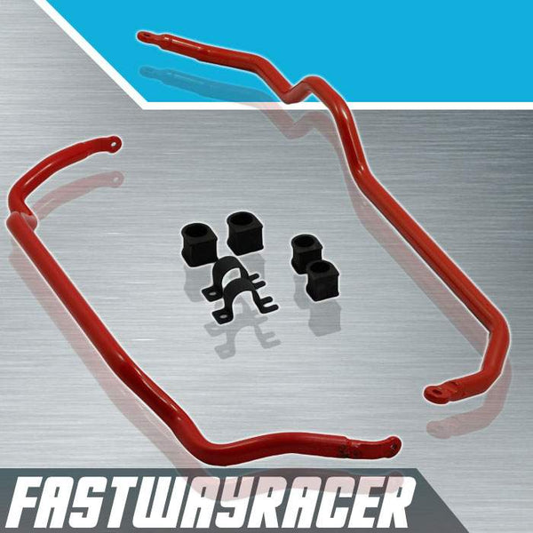 89-94 Nissan 240SX S13 Red Front and Rear Anti Sway Bars