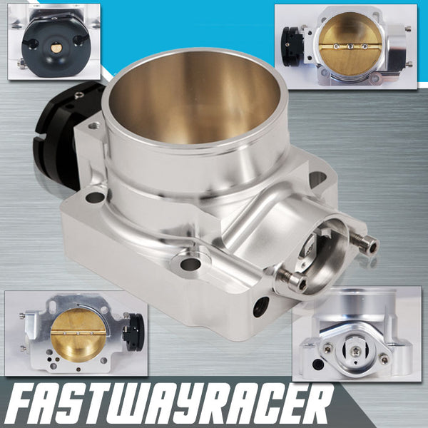 92-00 Honda Civic B/D Series Version 2 Silver 68MM Bolt On Aluminum Throttle Body