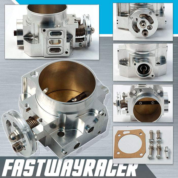 02-06 Acura RSX Base/Type-S K20A3/K20A2/K20Z1 Silver 70MM Bolt On Aluminum Throttle Body