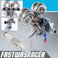 """3/"""" SS Downpipe Fit 88-00 Civic D Series T3//T4-5 BOLT TURBO FLANGE"""