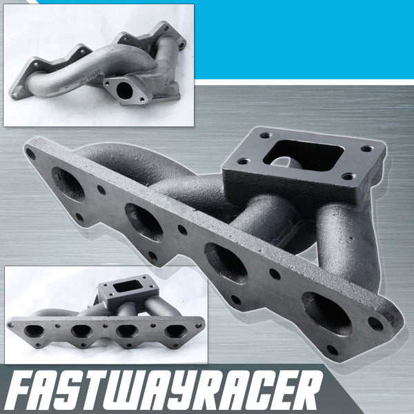 01-05 Dodge Stratus 4G64 2.4L SOHC T3/T4 Cast Iron Turbo Manifold
