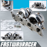 00-04 Nissan Xterra KA24DE 2.4L Stainless Steel Top Mount T3/T4 Turbo Manifold