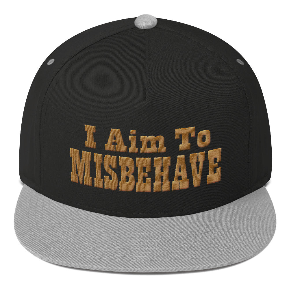I Aim To Misbehave - Snapback Hat