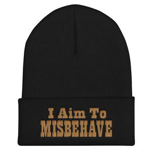 "I Aim To Misbehave - 12"" Cuffed Beanie"