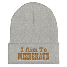 "Load image into Gallery viewer, I Aim To Misbehave - 12"" Cuffed Beanie"
