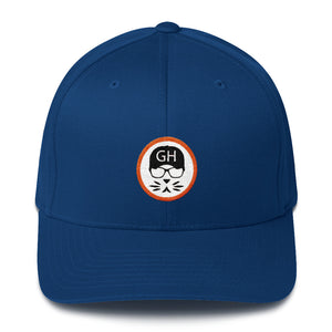 the Geek in the Hat - Logo - Flexfit Structured Twill Hat