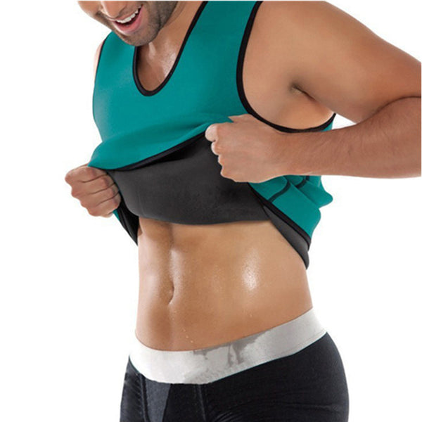 Waist Trainer Mens Sweat Shapers Shirt