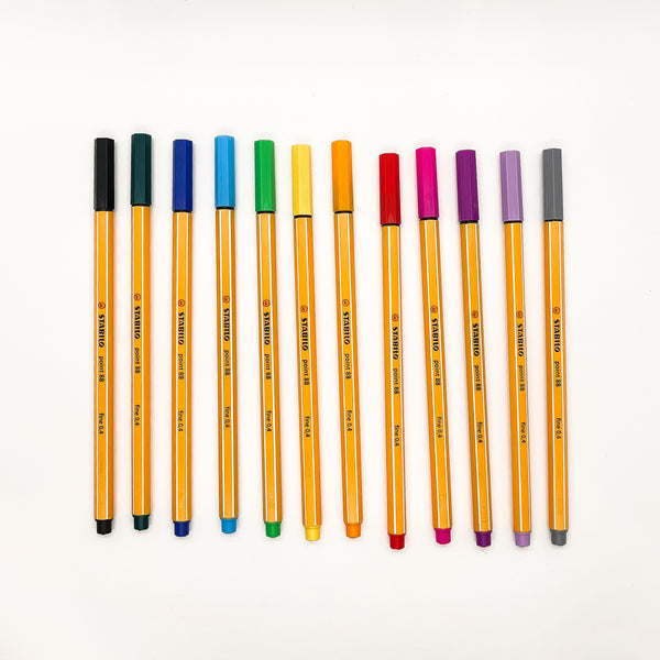 Stabilo Point 88 Fineliner - Rainbow Set