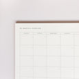 Monthly Overview Notepad