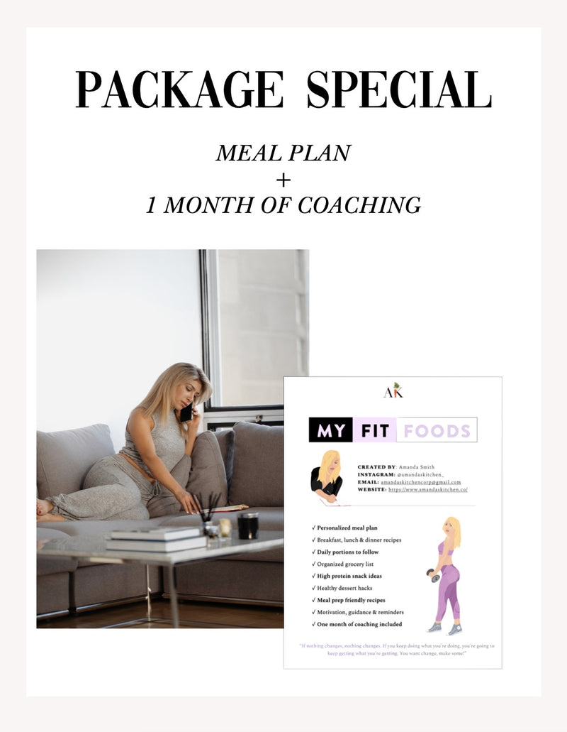 Package Special (1 month coaching + customized meal plan)