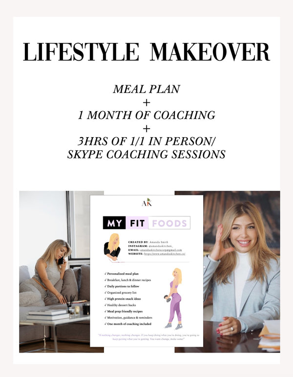 Lifestyle Makeover (1 Full Month Coaching & Full Meal Plan + 3 hours premium coaching)