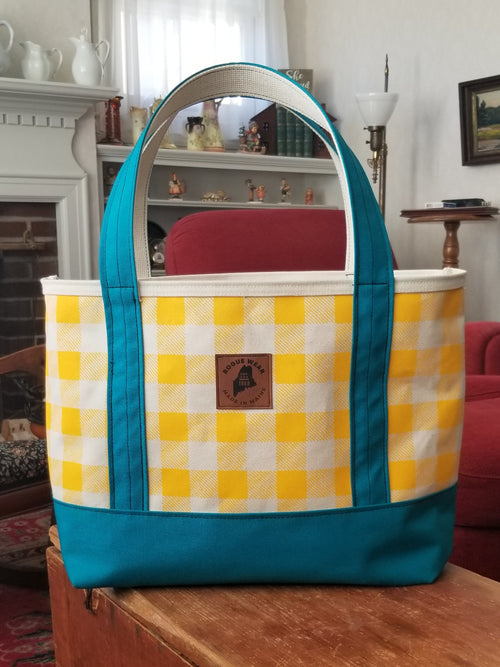 Rogue Life Maine Plaid Tote Bag - Yellow/Teal